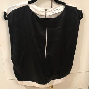Helmut Lang Black & Ivory Top